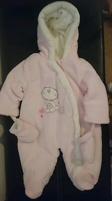 eac7cf8df48a BABY GIRLS QUILTED Snowsuit with Mittens