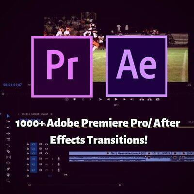 1000+ Adobe Premiere Pro/ After Effects Transitions - Digital Download