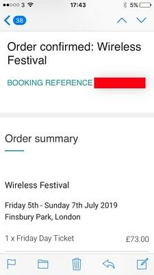 Wireless Festival 2019 Friday Ticket (SOLD OUT)