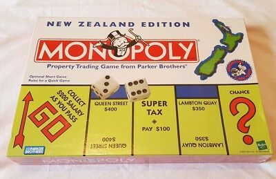MONOPOLY New Zealand Edition *NEW SEALED* - TOKEN version 2000 Board Game Hasbro