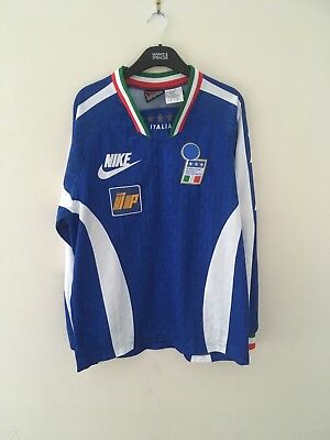 Very Rare Italy Football Training Long Sleeved Shirt Nike Player Issue 1996  97 40ff97b1e