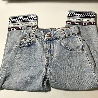 Levis 550 Kids Little Levis Jeans Size 5 Denim Orange Tab 80's Repurposed