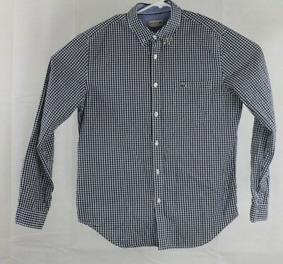 13143abd LACOSTE REGULAR FIT Long Sleeve Button Down Shirt Mens Size 42 Large Chest  44
