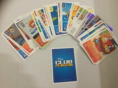Bundle of Disney Club Penguin trading cards
