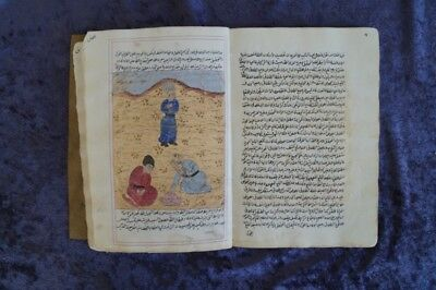 Scientific Arabic Manuscript 15 Gouache Miniatures 18/19. Century #b968S