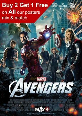 Avengers Assemble 2012 Movie Poster A5 A4 A3 A2 A1