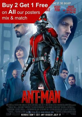 Ant Man 2015 Movie Poster A5 A4 A3 A2 A1