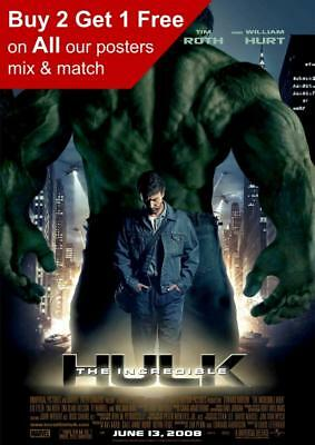 The Incredible Hulk 2008 Movie Poster A5 A4 A3 A2 A1