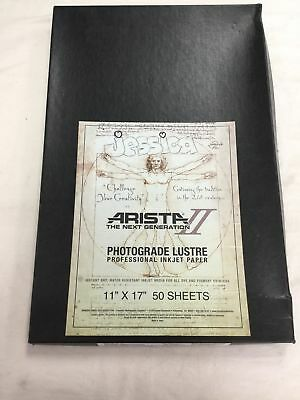 "Photographic Paper Arista 2 11"" x 17"" Photograde Lustre Sheet Box"