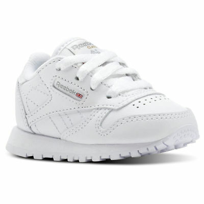 8cd66982ddd67 Reebok Classic Leather BS92756 White Grey Infant Toddler Baby Boys Girls  Shoes