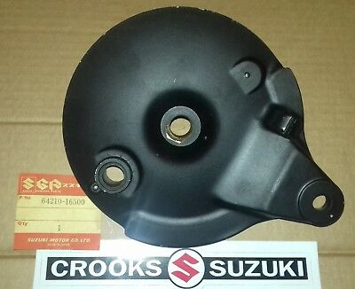 NOS 64210-16500 TM250 / TM400 / TS250 Genuine Suzuki Rear Brake Plate