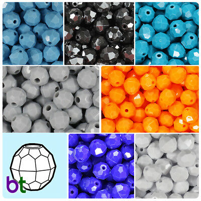 BeadTin Opaque 12mm Faceted Round Craft Beads (150pcs) - Color choice