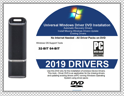 2019 ULTIMATE WINDOWS Drivers Easy Install 32 64 bit DVD Windows 7 8 1 and  8 10