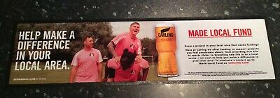 Carling Lager Bar Runner X2 New And Unused