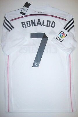 82d5bf105 New Real Madrid Cristiano Ronaldo Adidas Home White Jersey Portugal  2013-2014