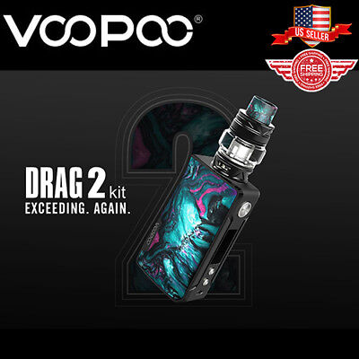 VooPoo Drag 2 Resin Kit 177W Uforce T2 Tank- FREE SHIPPING- 100% AUTHENTIC USA
