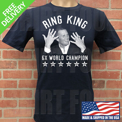 New England Patriots Tom Brady ***ring King, 6X Champion*** Super Bowl T-Shirt