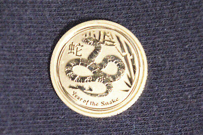 2013 Perth Mint - Lunar II Series - Year of the Snake - 1/10 oz. Gold coin