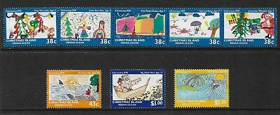 CHRISTMAS ISLAND 1991 Christmas, Childrens Paintings, mint set of 8, MNG