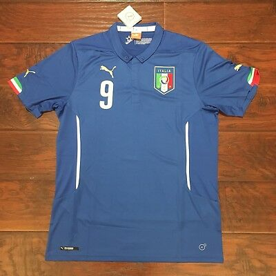 2018 ITALY HOME Jersey  9 BALOTELLI Large Soccer Football Puma ... 3b72005580696