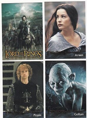 20 Different Lord Of The Rings Cards, 2004, The Return Of The King, Nice Lot 4.
