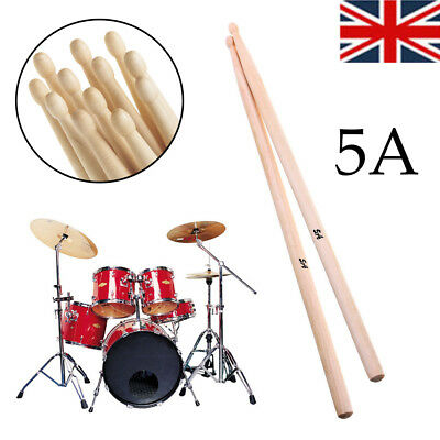 """Drum Sticks 5A 16"""" Drumsticks Maple High Quality Wood Premium Percussion Gift UK"""
