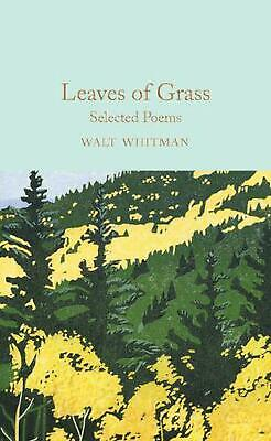 Leaves of Grass: Selected Poems by Walt Whitman Hardcover Book Free Shipping!