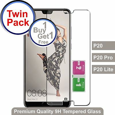Twin Pack Tempered Glass For Huawei P20/P20 Pro/P20 Lite Buy 1 Get 1 Free