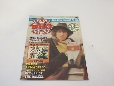 DOCTOR WHO Weekly -  No 2 - Oct 24th 1979 - Marvel Comics - VGC -