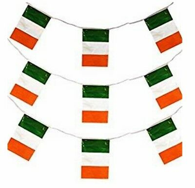 Ireland 6 Nations Rugby Irish Bunting 33Ft 20 Flags 10M Party St Patricks Day