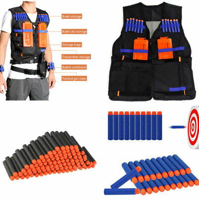 Kids Tactical Vest Suit Kit For Nerf Guns N-Strike Elite Series Outdoor Game 26x