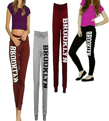 New Women's Ladies Brooklyn Running Gym Trouser Casual Jogging Bottoms 8-22