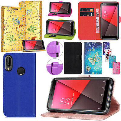 For Vodafone Smart E9 / X9 Leather Wallet Book Flip Stand Case Cover + Stylus