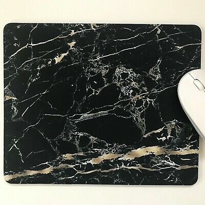 marble black/gold mouse pad mouse mat high quality 5MM thick made in uk