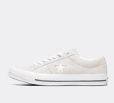 Mens Converse One Star OX Grey/White Trainers RRP £64.99