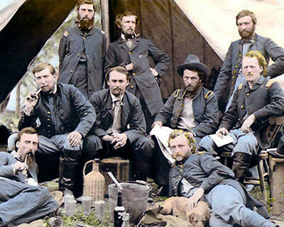 """General George Armstrong Custer 1862 Civil War 8X10"""" Hand Color Tinted Photo"""