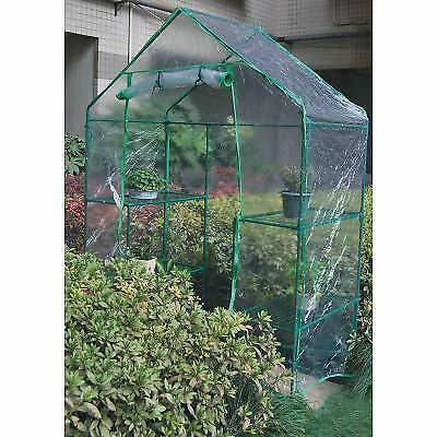 Large Walk In Greenhouse PVC Plastic Garden Grow Green House with 6 Shelves