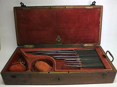 RARE Antique Large AMPUTATION SURGEON MEDICAL CASED SET/ CHARRIÉRE COLLIN, Paris