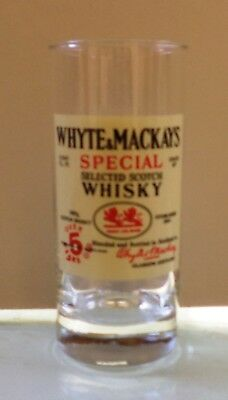 Whyte & Mackays Scotch Whisky Vtg Tall Glass