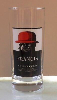 Francis Scotch Whisky Vtg Tall Glass