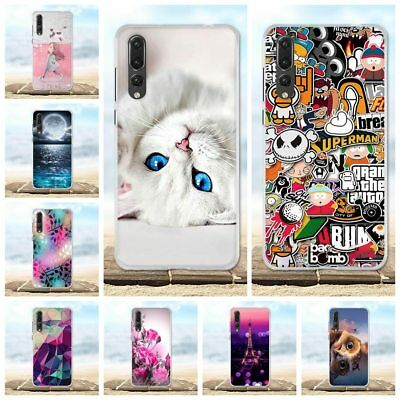 For Case Huawei P20 Pro Silicone TPU Cover 3D Cute Flower Cover For Huawei P20 P