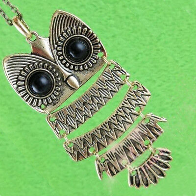 Bronze-tone Vintage Style Horned Snow Barn Owl Charm Pendant Jewelry Necklace