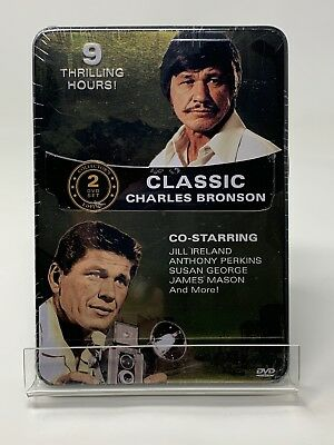 New Classic Charles Bronson (DVD, 2012, 2-Disc Set) Metal Tin Case
