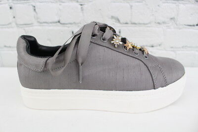 6f0e6d7f12ce18 Circus by Sam Edelman Shania Womens Gray Fashion Sneakers With Charms Size  6.5M