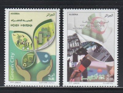 ALGERIA Green Day & National Day of the Press MNH set