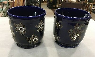 A Pair of French Porcelain Cachepots (2)