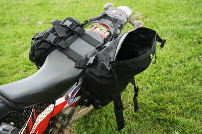 NEW WOLFMAN Motorcycle Expedition Saddle Bags Black LH RH with Straps