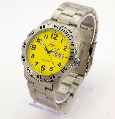 Orient automatic 100m KY EM7A-C2-A CA men's stainless steel watch Cal. 46943