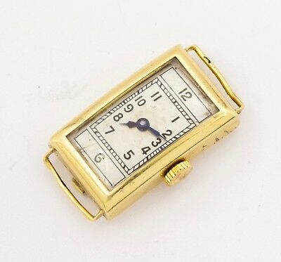 1930's Art Deco women's ladies Omega T12.6 SOLID gold 585 Swiss made wristwatch