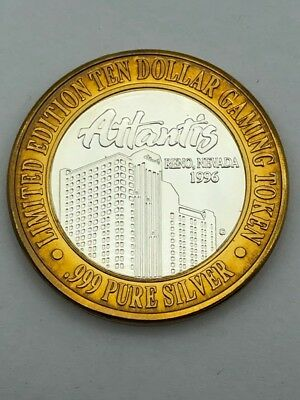 Atlantis Casino $10 Gaming Token .999 Silver Parrot (AP1056407)